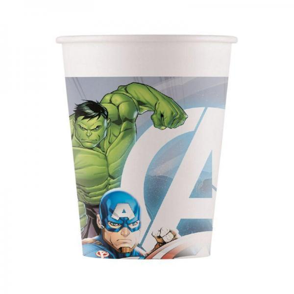 8 gobelets compostable avengers