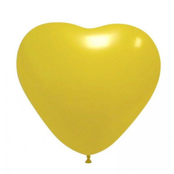 balao coracao amarelo
