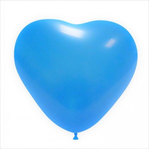 balao coracao azul bebe