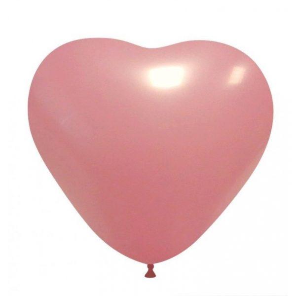 balao coracao rosa bebe