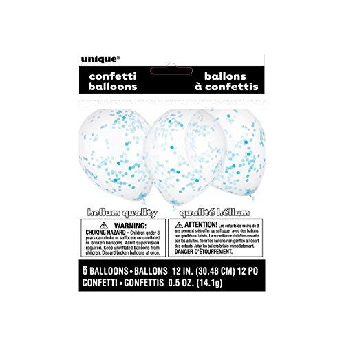 baloes confettis azul bebe
