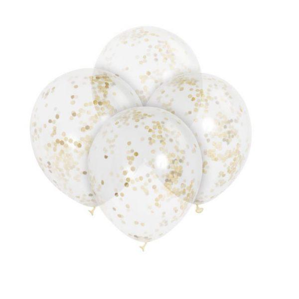 baloes confettis ouro