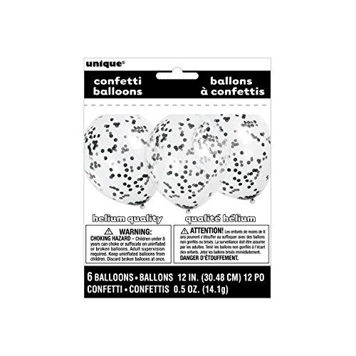 baloes confettis preto