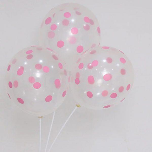 baloes transparente rosa