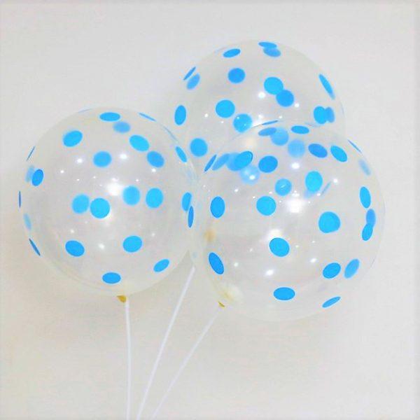 baloes transparentes azul