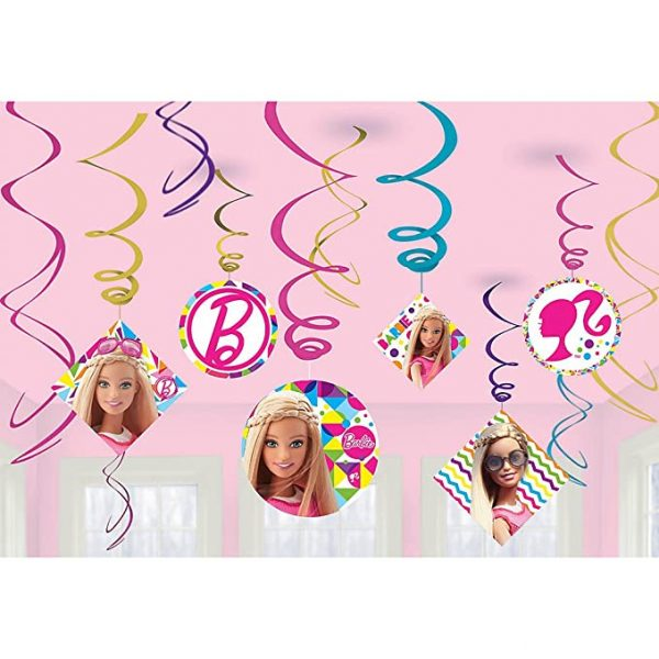 barbie decor swirl 006547