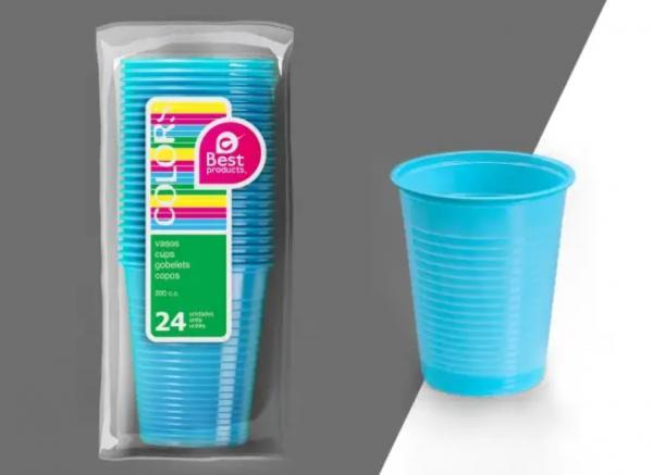 copo plastico azul