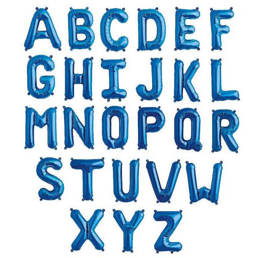 foil letras azul