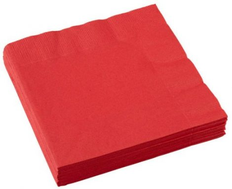 guardanapos vermelho