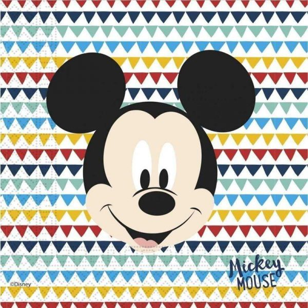 mickey mouse mikke mus awesome servietter 20 stk