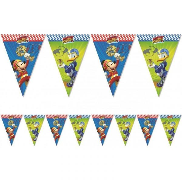 mickey racers decorative flag banner 001