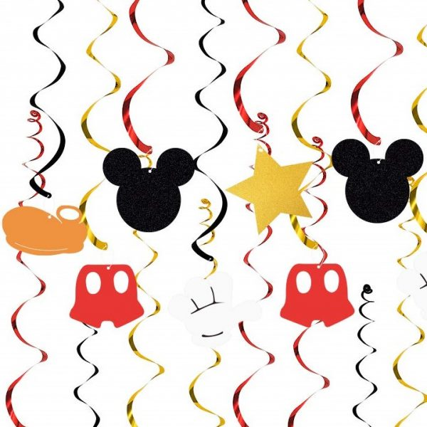mickey swirl decor road