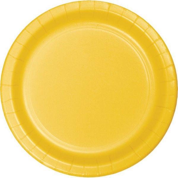 pratos amarelo torrado