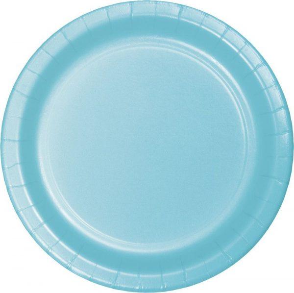 pratos azul bebe