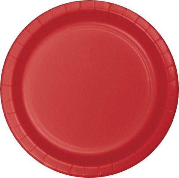 pratos vermelho