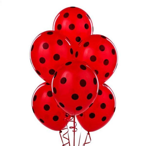 red dots balloons