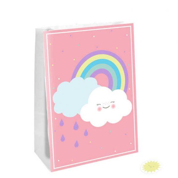 saco prenda nuvem arco iris