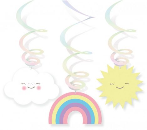 swirl decorativo nuvens