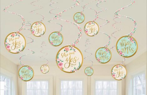 swirl decorativo she said yes