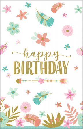 toalha mesa floral happy birthday