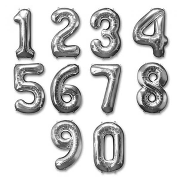 baloes numeros prata