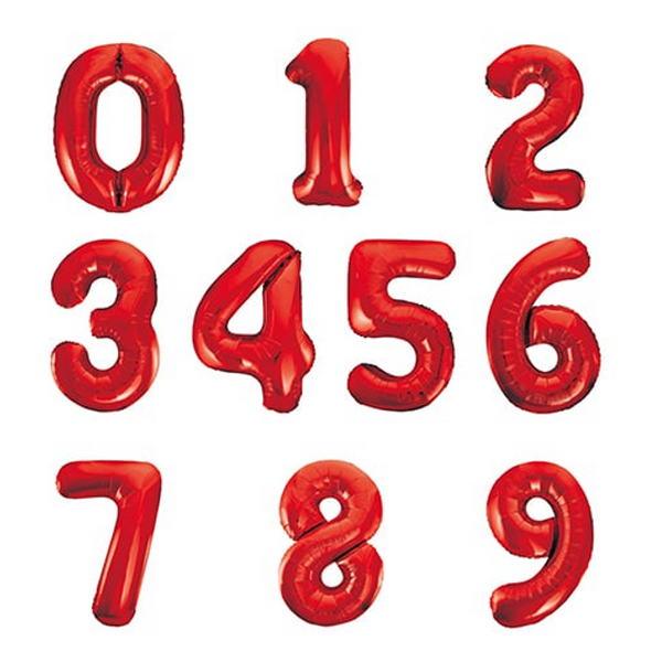 baloes numeros vermelho