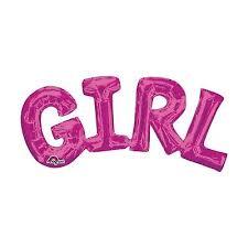 BALAO FOIL GIRL 55CM