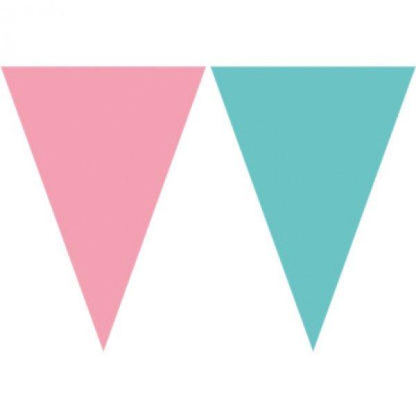bandeirola azul e rosa 230