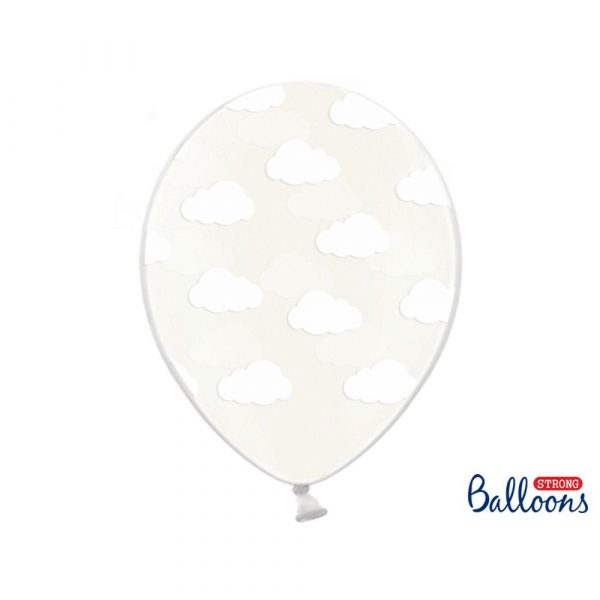 Cloud Balloons 30cm Crystal clear Set of 6 Baby Shower 2 173438 p