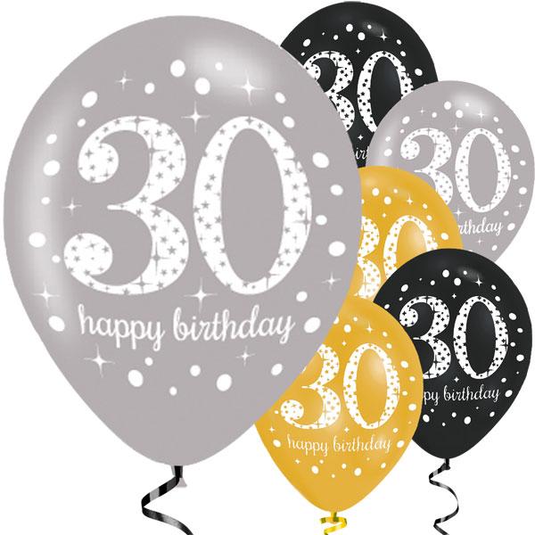 baloes 30 anos 6 unidades