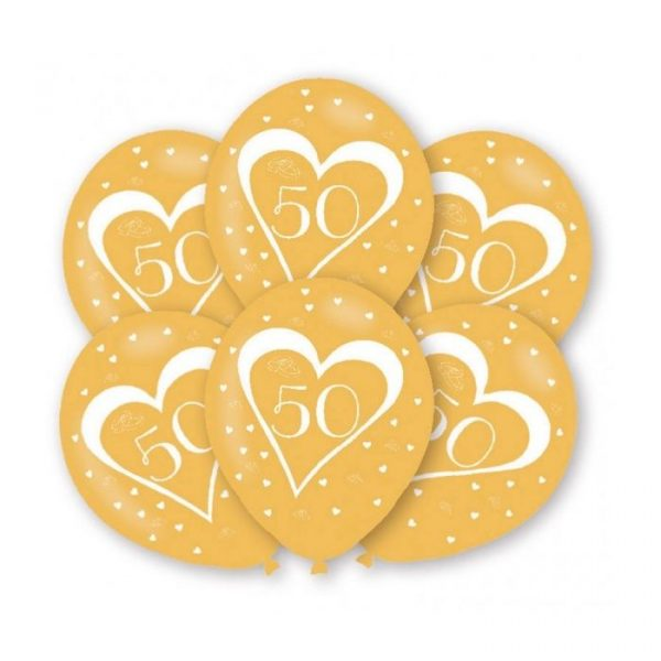 baloes bodas de ouro 50 anos