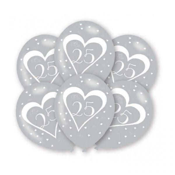 baloes bodas de prata 25 anos