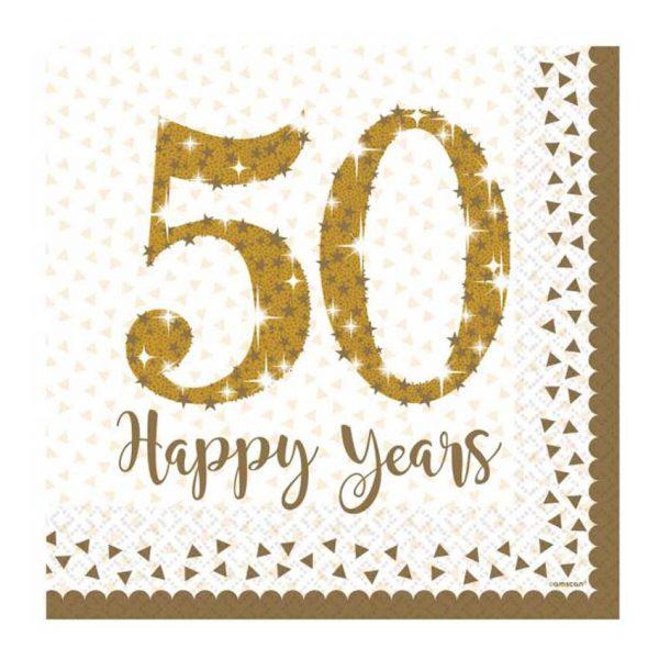 guardanapos 50 anos bodas de ouro 33cm