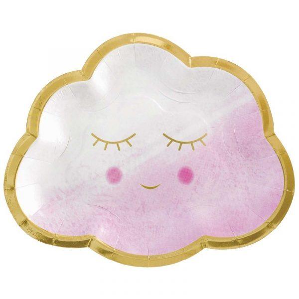 pratos baby girl nuvens