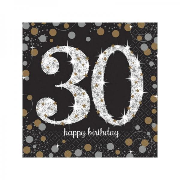 verjaardag servetten 30 jaar 16st