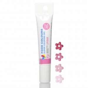 corante gel tubo 20mg rosa