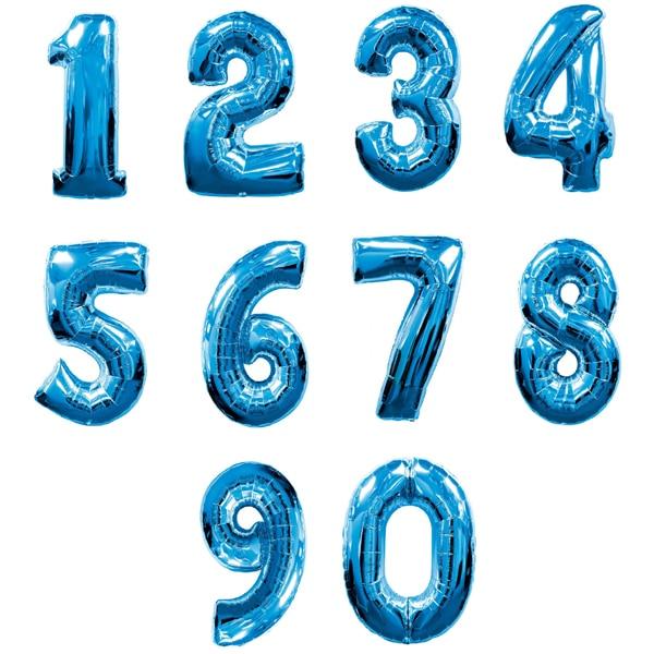 numeros foil grande azul