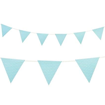 bandeirola bolinhas azul bebe