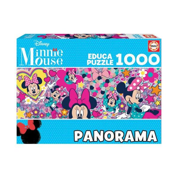 238224 3 educa puzzle panoramico 17991 minnie mouse 1000 pecas 17991
