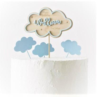 clouds birthday cake topper grande