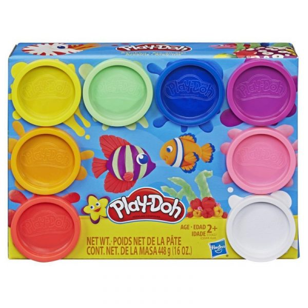 play doh rainbow with 8 colours