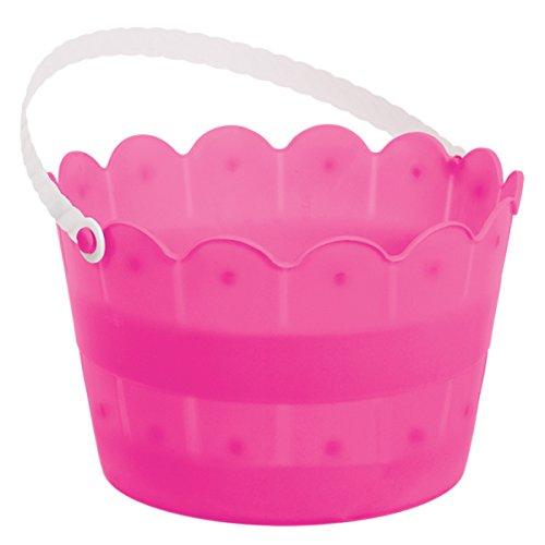 balde tematico pascoa ovos rosa