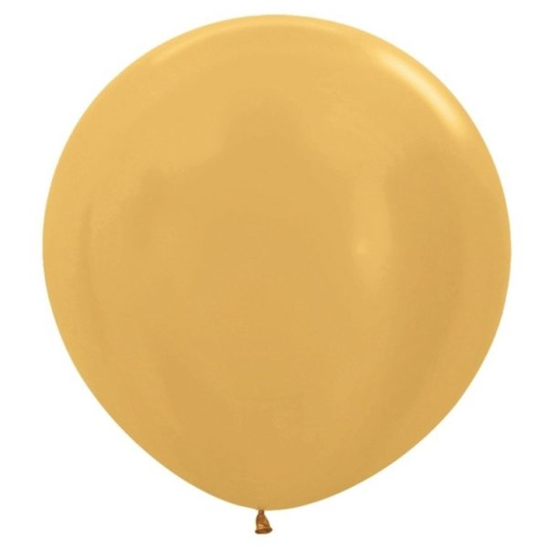 baloes dourados redondos