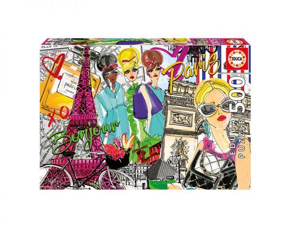Puzzle 500 Pcs Leva me a Paris 1 600x471 1