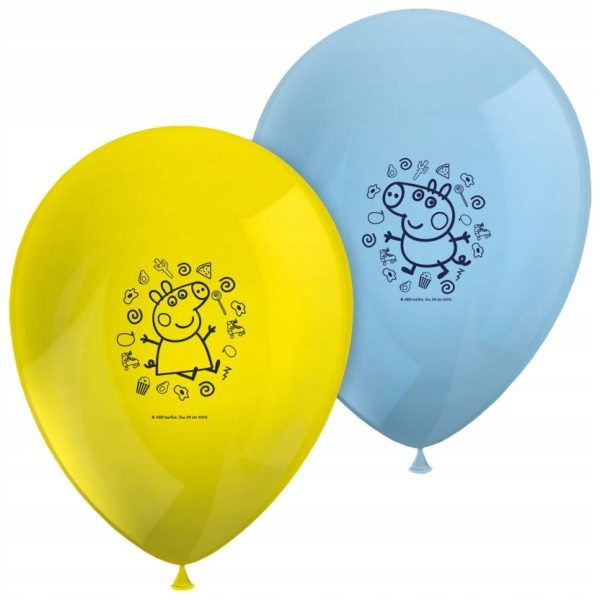 Balony gumowe Swinka Peppa 8 szt