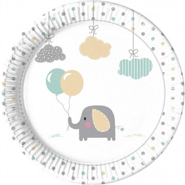 de platos elefantes dulce bebe 23 cm 8 partyhera distribuidor de procos