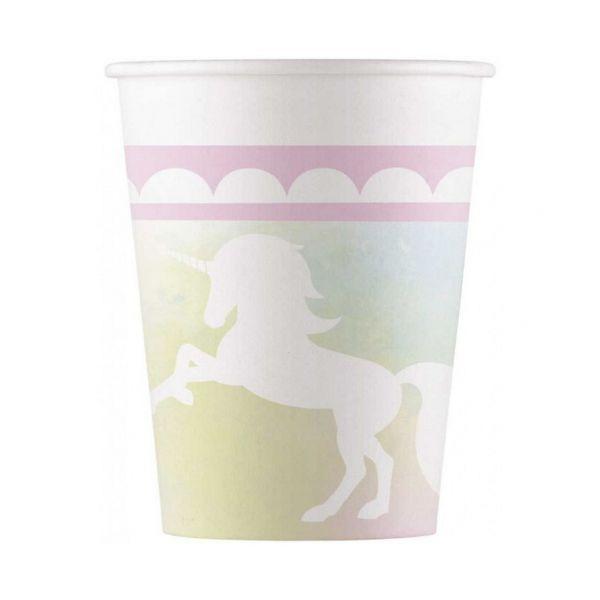 592488 3 8 copos de papel unicornio