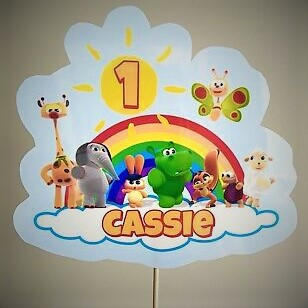 Baby TV Theme Personalised Birthday Cake Topper Unofficial