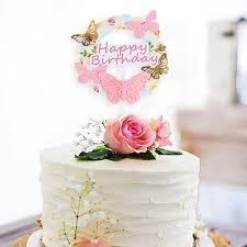 cake topper floral 5445