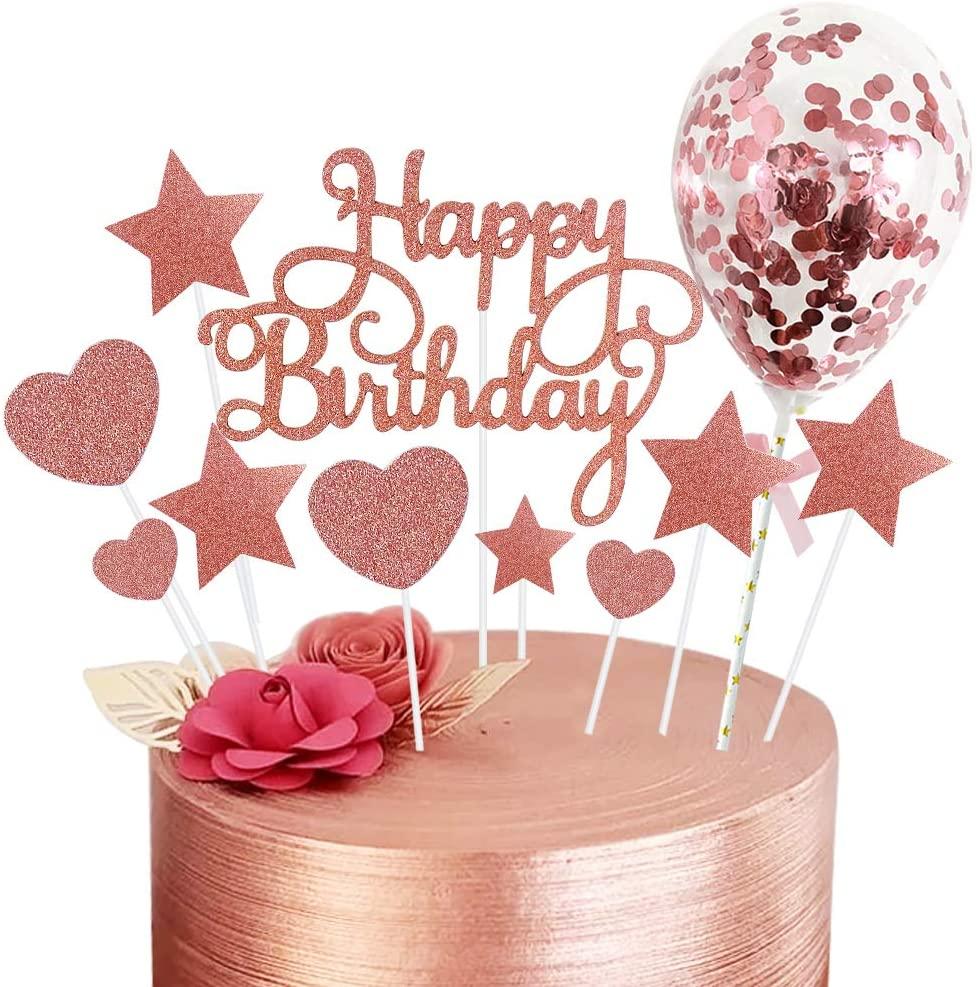 cake topper rose gold